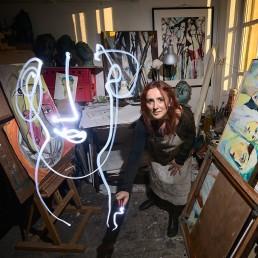 parcours d'artistes lightpainting