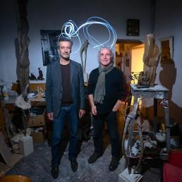 Philippe Buiatti et Jean-Marie Wunderlich lightpainting