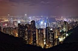 vue de hongkong la nuit