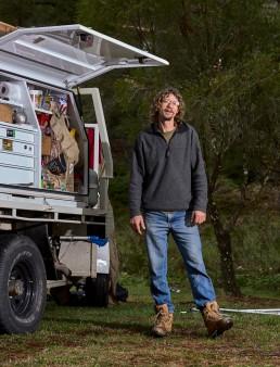 Terry - cherche du travail - depuis 6 mois sur la route - Blue Mountain