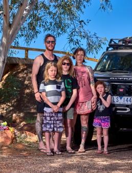 Famille Whitford - Tour de l'Australie - Stuart Highway