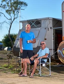 es beaux frères Phil et Eddie - Tour de l'Australie - Richmond rest area - Flinders Highway