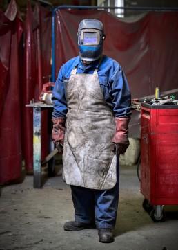 ouvrier soudeur à Marange