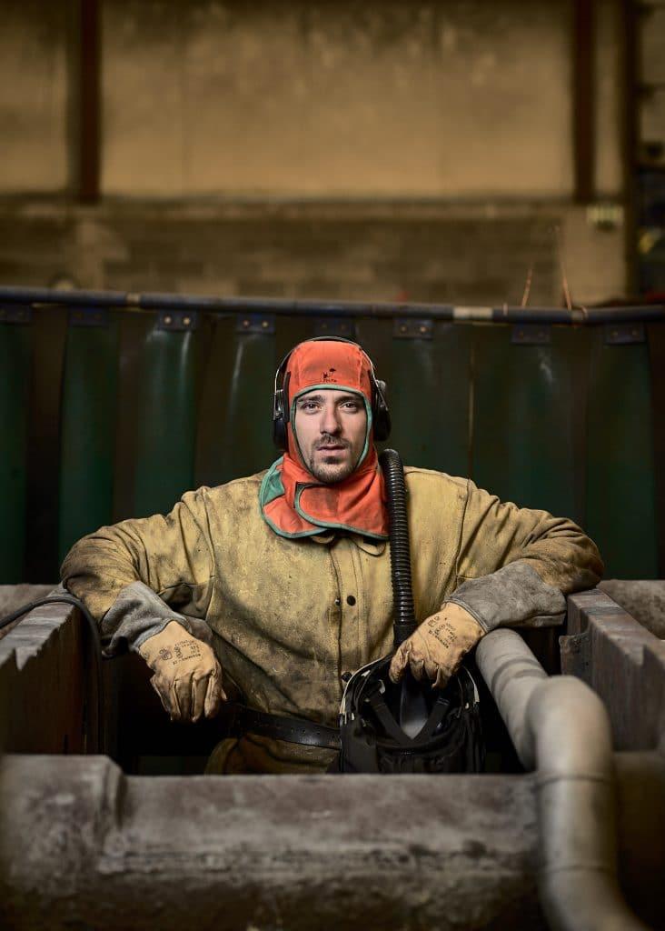 soudeur ouvrier arcelor mittal dommeldange