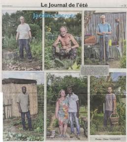 Portraits de jardins ouvriers pour le Républicain Lorrain